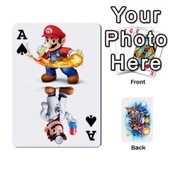 Ace Super Smash Bros  By Cheesedork   Playing Cards 54 Designs   5gmrv3cr5mo8   Www Artscow Com Front - SpadeA