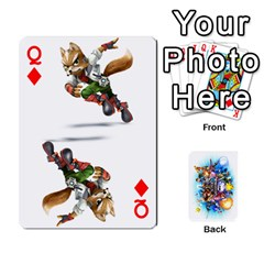 Queen Super Smash Bros  By Cheesedork   Playing Cards 54 Designs   5gmrv3cr5mo8   Www Artscow Com Front - DiamondQ