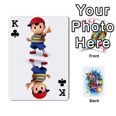 King Super Smash Bros  By Cheesedork   Playing Cards 54 Designs   5gmrv3cr5mo8   Www Artscow Com Front - ClubK