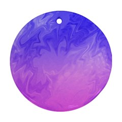 Ombre Purple Pink Ornament (round)  by BrightVibesDesign