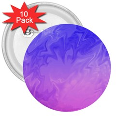 Ombre Purple Pink 3  Buttons (10 pack)  by BrightVibesDesign