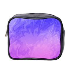 Ombre Purple Pink Mini Toiletries Bag 2 Side by BrightVibesDesign