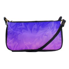 Ombre Purple Pink Shoulder Clutch Bags by BrightVibesDesign