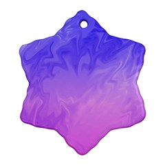 Ombre Purple Pink Snowflake Ornament (2-Side) by BrightVibesDesign