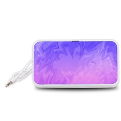 Ombre Purple Pink Portable Speaker (White)  by BrightVibesDesign