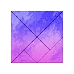 Ombre Purple Pink Acrylic Tangram Puzzle (4  X 4 ) by BrightVibesDesign