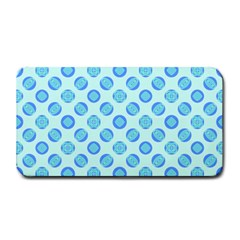 Pastel Turquoise Blue Retro Circles Medium Bar Mats by BrightVibesDesign