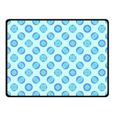 Pastel Turquoise Blue Retro Circles Fleece Blanket (small) by BrightVibesDesign