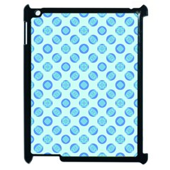 Pastel Turquoise Blue Retro Circles Apple Ipad 2 Case (black) by BrightVibesDesign