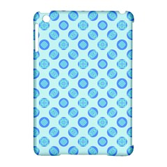 Pastel Turquoise Blue Retro Circles Apple Ipad Mini Hardshell Case (compatible With Smart Cover) by BrightVibesDesign