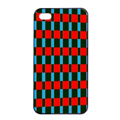 Black Red Rectangles Pattern                                                          			apple Iphone 4/4s Seamless Case (black) by LalyLauraFLM