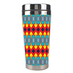 Rhombus And Other Shapes Pattern                                                            Stainless Steel Travel Tumbler by LalyLauraFLM