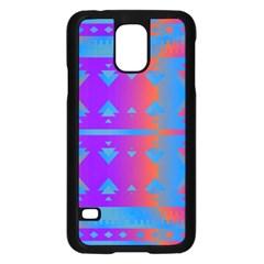 Triangles Gradient                                                             samsung Galaxy S5 Case (black) by LalyLauraFLM