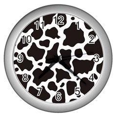 Cow Pattern Wall Clocks (silver)  by sifis