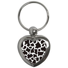 Cow Pattern Key Chains (heart)  by sifis