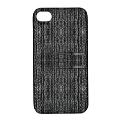 Dark Grunge Texture Apple Iphone 4/4s Hardshell Case With Stand by dflcprints