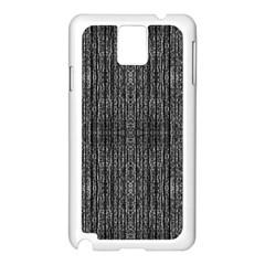 Dark Grunge Texture Samsung Galaxy Note 3 N9005 Case (white) by dflcprints