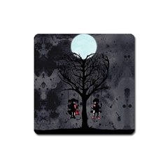 Love Tree Square Magnet by lvbart