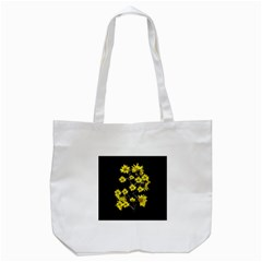 Sunflowers Over Black Tote Bag (white) by dflcprints
