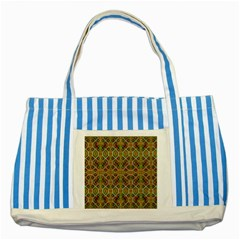 Roulette Striped Blue Tote Bag by MRTACPANS