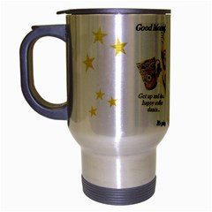 goodmorning Travel Mug (Silver Gray) by TheDean