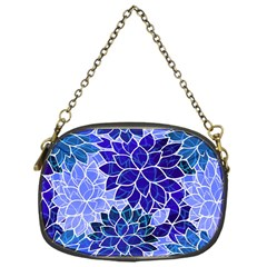 Azurite Blue Flowers Chain Purses (one Side)  by KirstenStar