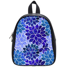 Azurite Blue Flowers School Bags (small)  by KirstenStar