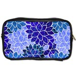 Azurite Blue Flowers Toiletries Bags