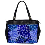 Azurite Blue Flowers Office Handbags