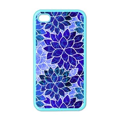 Azurite Blue Flowers Apple Iphone 4 Case (color) by KirstenStar