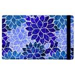 Azurite Blue Flowers Apple iPad 3/4 Flip Case