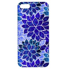Azurite Blue Flowers Apple iPhone 5 Hardshell Case with Stand by KirstenStar