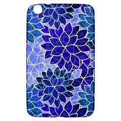 Azurite Blue Flowers Samsung Galaxy Tab 3 (8 ) T3100 Hardshell Case  by KirstenStar