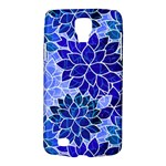 Azurite Blue Flowers Galaxy S4 Active