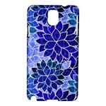 Azurite Blue Flowers Samsung Galaxy Note 3 N9005 Hardshell Case