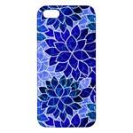 Azurite Blue Flowers iPhone 5S/ SE Premium Hardshell Case