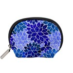 Azurite Blue Flowers Accessory Pouches (Small)