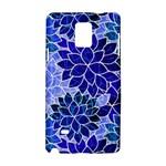 Azurite Blue Flowers Samsung Galaxy Note 4 Hardshell Case