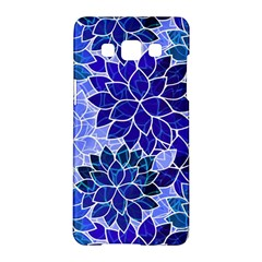 Azurite Blue Flowers Samsung Galaxy A5 Hardshell Case  by KirstenStar
