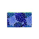 Azurite Blue Flowers Cosmetic Bag (XS)