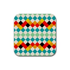 Rhombus pattern                                                              Rubber Square Coaster (4 pack by LalyLauraFLM