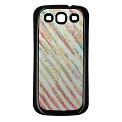Diagonal Stripes Painting                                                               			samsung Galaxy S3 Back Case (black) by LalyLauraFLM
