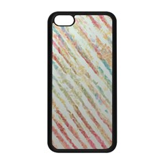 Diagonal Stripes Painting                                                               apple Iphone 5c Seamless Case (black) by LalyLauraFLM