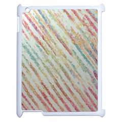 Diagonal Stripes Painting                                                               apple Ipad 2 Case (white) by LalyLauraFLM
