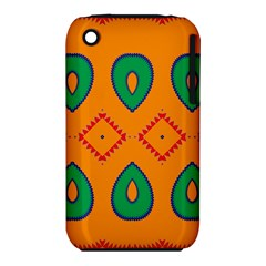 Rhombus And Leaves                                                                			apple Iphone 3g/3gs Hardshell Case (pc+silicone) by LalyLauraFLM