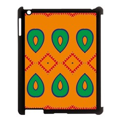 Rhombus and leaves                                                                Apple iPad 3/4 Case (Black) by LalyLauraFLM