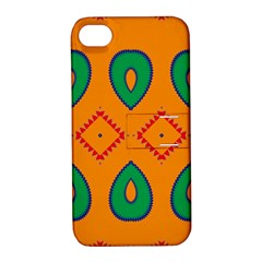 Rhombus And Leaves                                                                apple Iphone 4/4s Hardshell Case With Stand by LalyLauraFLM