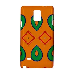 Rhombus and leaves                                                                			Samsung Galaxy Note 4 Hardshell Case by LalyLauraFLM