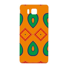 Rhombus And Leaves                                                                samsung Galaxy Alpha Hardshell Back Case by LalyLauraFLM