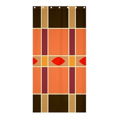 Shapes And Stripes                                                                 shower Curtain 36  X 72  by LalyLauraFLM